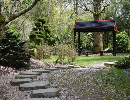 Jardin asiatique, pavillon