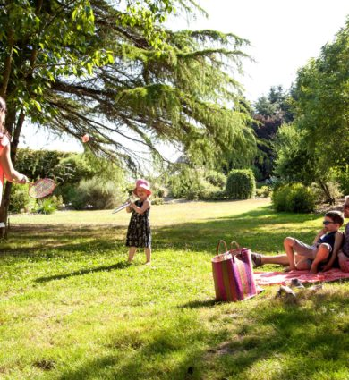 détente en famille aux jardins