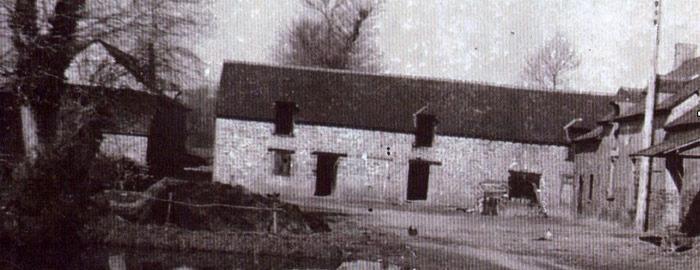 ancienne ferme Jardins de Brocéliande en Noir et Blanc