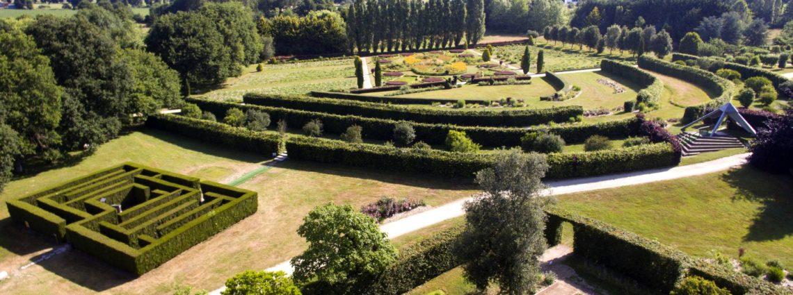 Vu de drone Jardins de Brocéliande