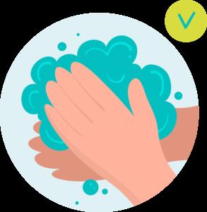 laver mains covid